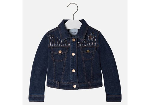 Mayoral Denim Jacket with Strass Girl