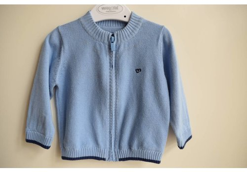 Mayoral Cardigan boys light blue knitted