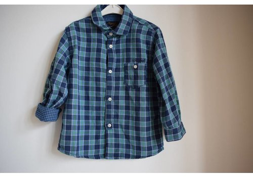 Mayoral Checkered boys blouse green / blue