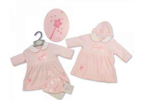 My little Chick Zacht roze jurkje met mutsje My Little Chick