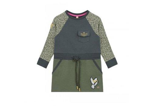 Vinrose Dress tunic Stella with leopard print