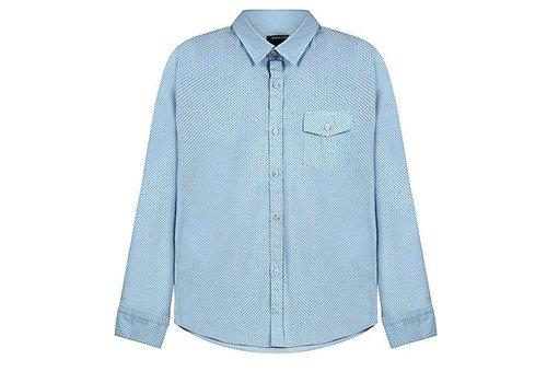 Vinrose Vinchenzo blouse blauw geruit