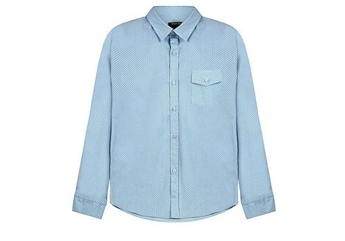 Vinrose Vinchenzo Bluse blau kariert