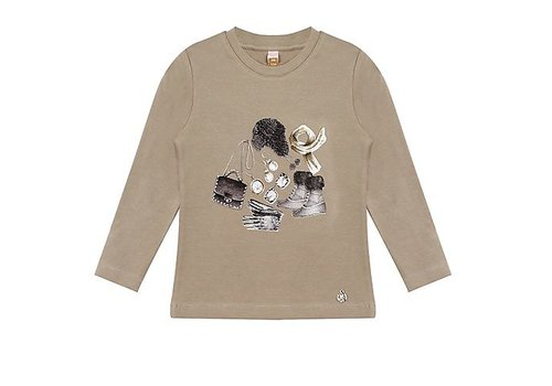 Vinrose T-Shirt Snowly Light Taupe