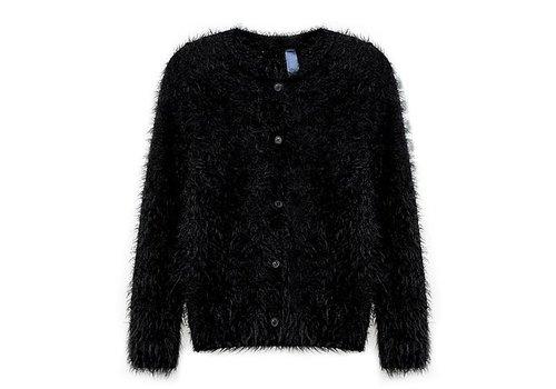 Vinrose Vest TESS Zwart met lange mouwen