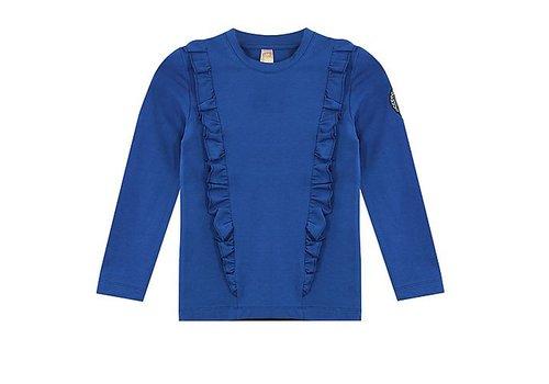 Vinrose T-Shirt Josephine met lange mouwen en roezelrand