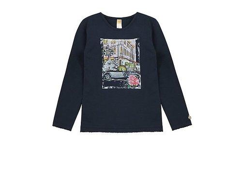 Vinrose T-Shirt Charlotte met lange mouwen en romantische opdruk