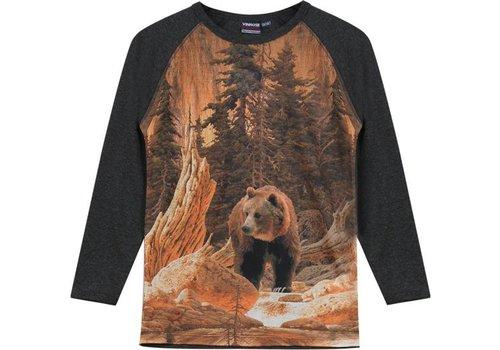 Vinrose T-Shirt Reiher mit langen Ärmeln und Druck