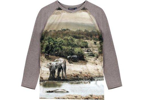 Vinrose T-Shirt Pearson mit langen Ärmeln und Druck