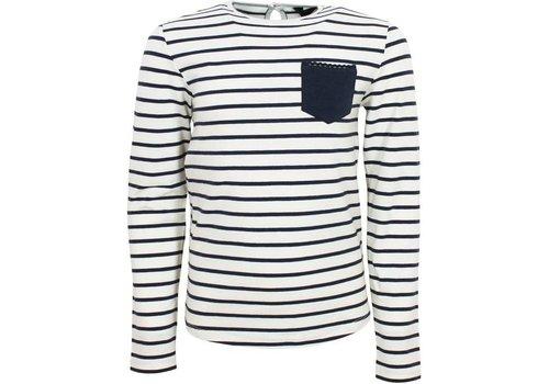 Vinrose CORA Gestreiftes T-Shirt mit langen Ärmeln