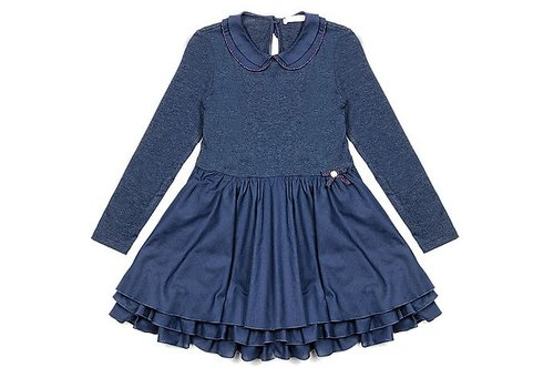 Lialea Lialady Dark blue dress with long sleeves