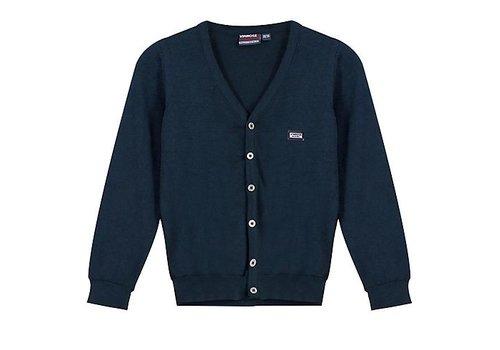 Vinrose Dark blue cardigan Garett with long sleeves