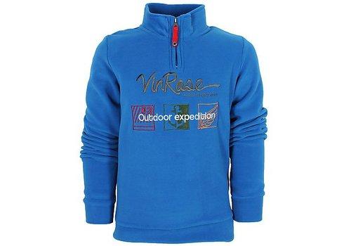 Vinrose Blauer Pullover Quinten
