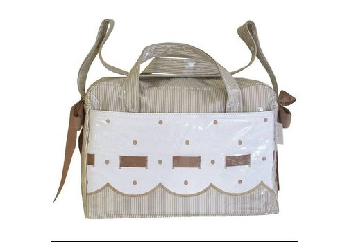 Uzturre Lacquer-diaper bag from the brand Utzure beige off white