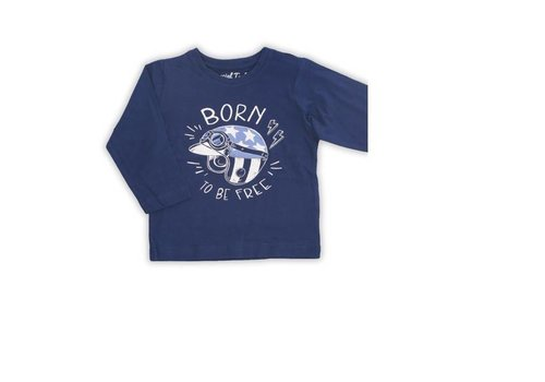 Mayoral Shirt boy blauw met opschrift
