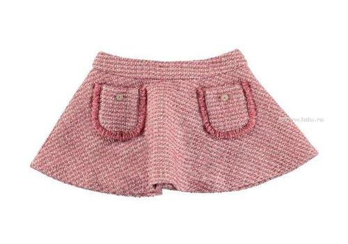 Mayoral Meisjes rokje uitlopend model in de kleur oud roze-zilver