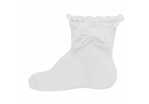 Ewers Girl's ankle white with lace