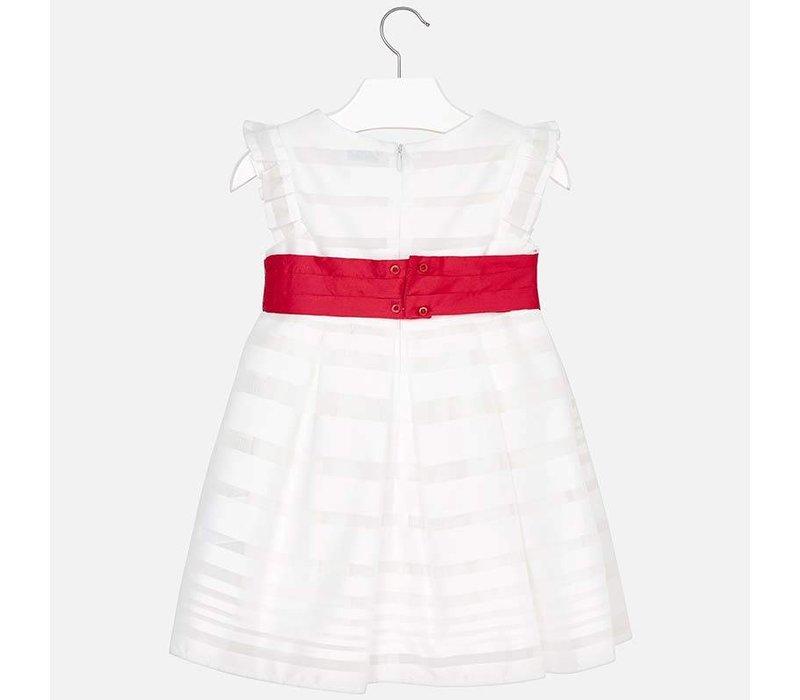 Mayoral Weißes Roten Blumen Schönes Kleid Mit nPwNO8kZ0X