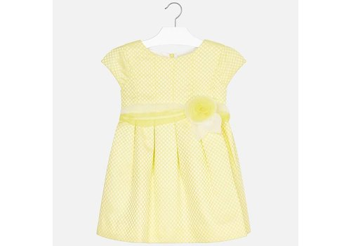 Mayoral Beautiful yellow dress finished with a very nice waistband.