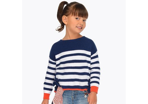 Mayoral Blue-white striped sweater