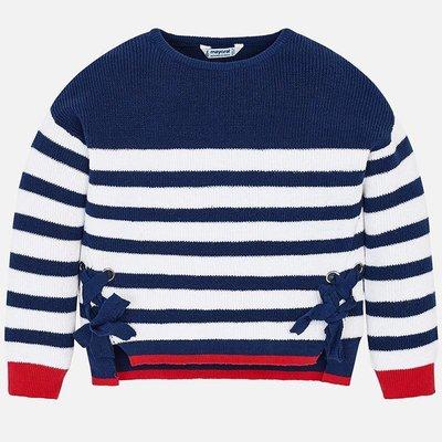 Rood Blauw Gestreepte Trui.Sweater Eclipse Le Bb