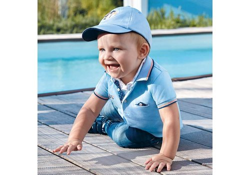 Mayoral Baby polo Cristal blue