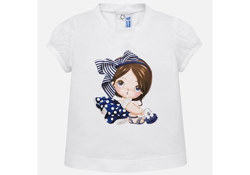 Mayoral Wit t-shirt met print
