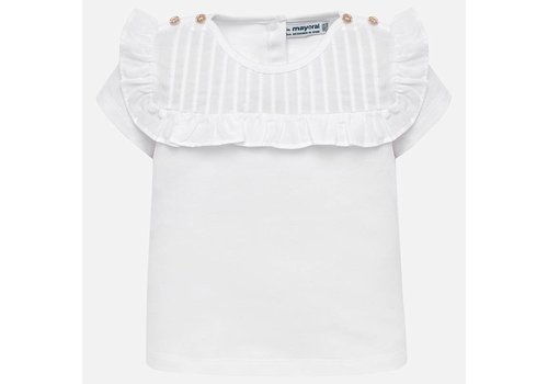 Mayoral T-Shirt weiß mit goldenen Knöpfen
