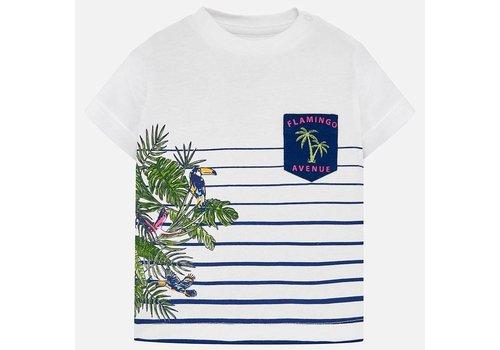 Mayoral Mayoral t-Shirt wit met print