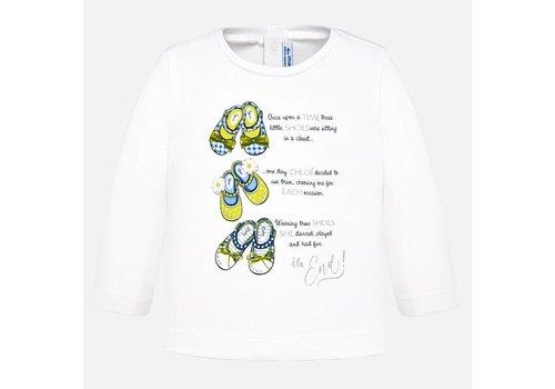 Mayoral T-Shirt Weiß mit langen Ärmeln