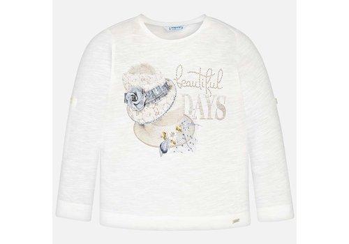 Mayoral Crème meisjes shirt