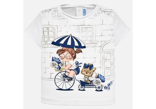 Mayoral T-Shirt weiß-navy