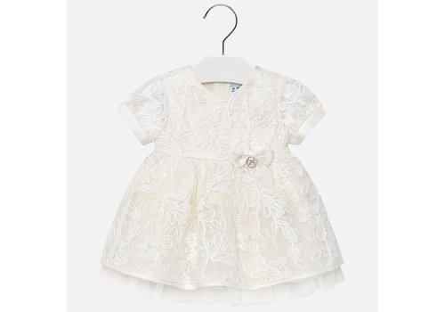 Mayoral Cream tulle dress