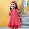 Mayoral Pleated dress coral color