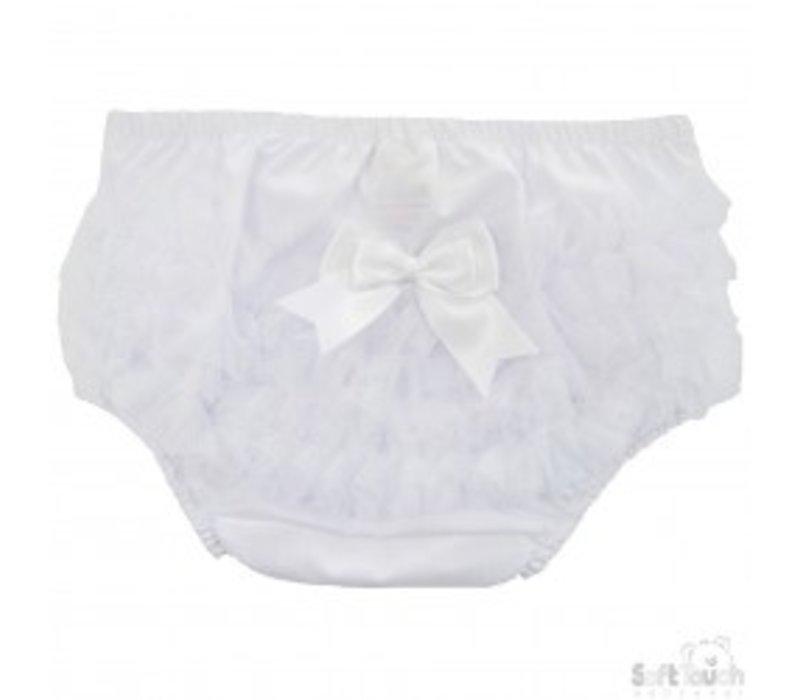 White diaper pants