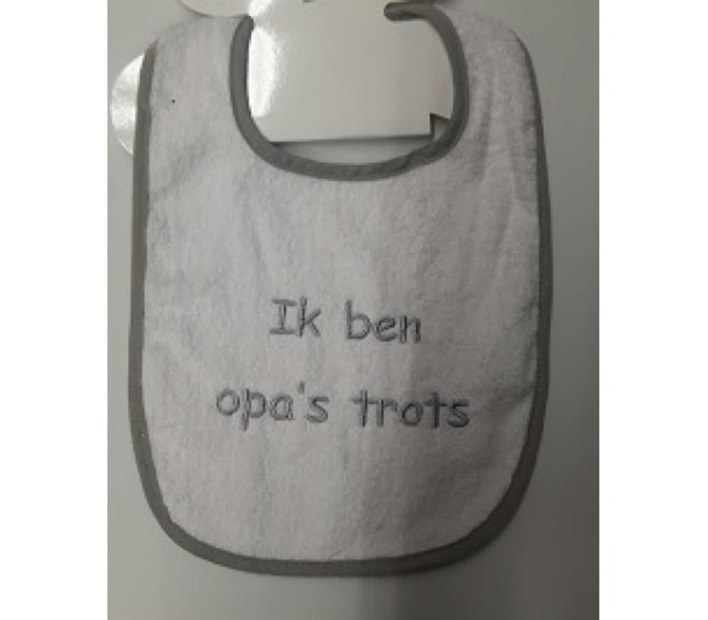 Bib with text