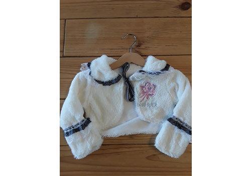 City Baby white cardigan