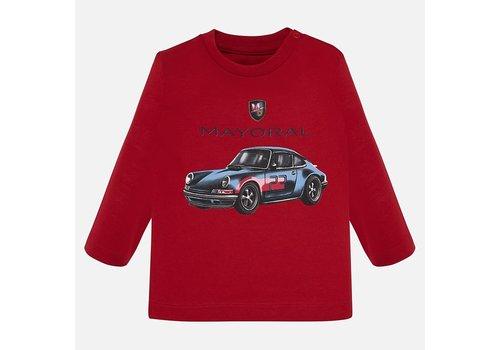 Mayoral Mayoral rood jongensshirt met sport auto.