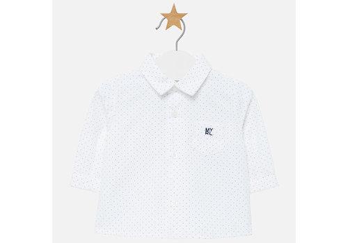 Mayoral Beautiful shirt, white with blue dot.
