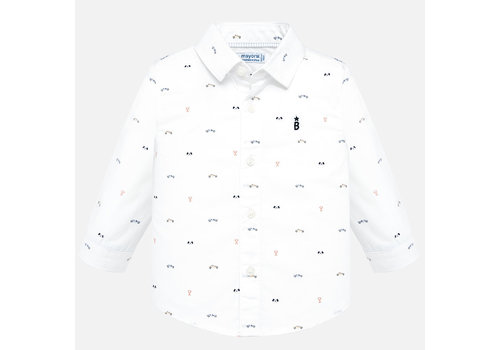 Mayoral Beautiful white shirt with playful print.