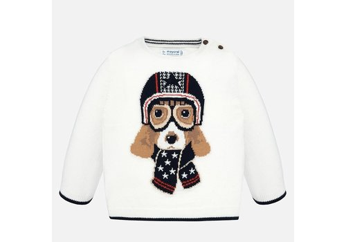 Mayoral Knitted winter sweater with dog.