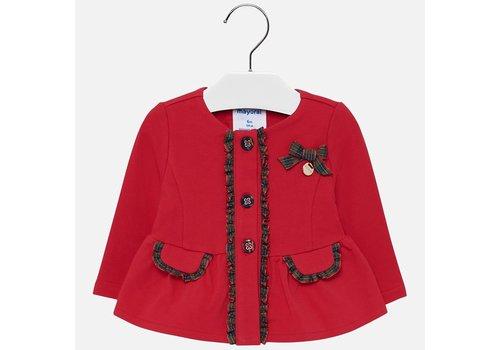 Mayoral Mayoral red stitching jacket.