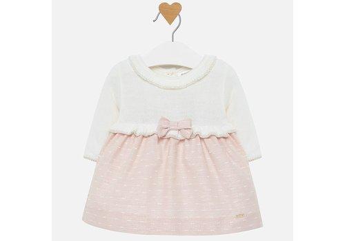 mayoral Beautiful baby dress pink / white