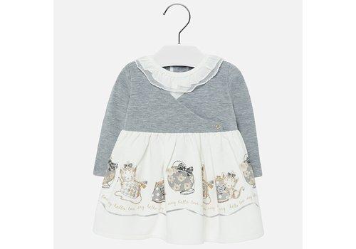 mayoral Schönes weißes / graues Mädchenkleid