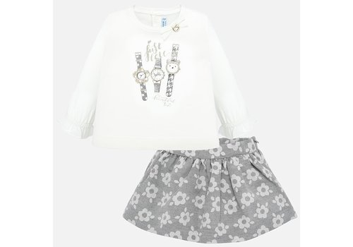 mayoral Girl set, skirt with sweater