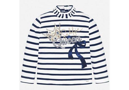 mayoral Blauw/wit gestreept shirt Queen