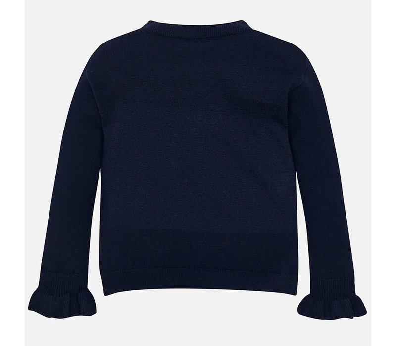 Wunderschöner dunkelblauer Pullover mit Strass