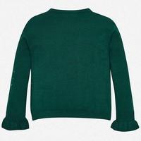 Wunderschöner dunkelgrüner Pullover mit Strass