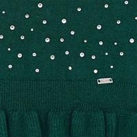 Beautiful dark green sweater with rhinestones