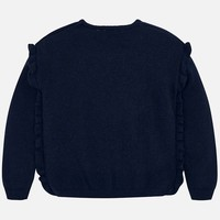 Beautiful dark blue girl's sweater